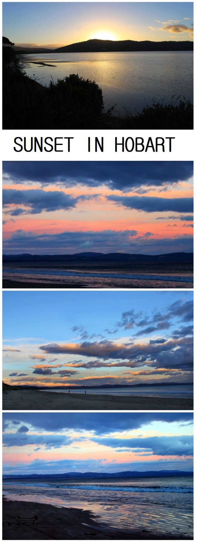 sunset in hobart tasmania - buggl.com