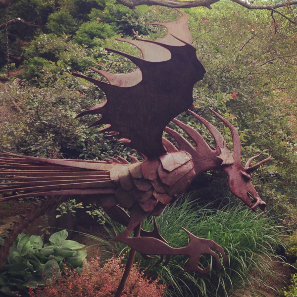 """""""Draco Terribilis"""" by Lou Ferrario, in the Chinese Cup Garden"""